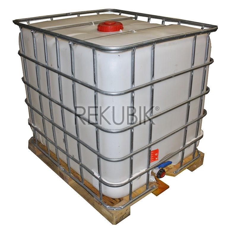 1000l ibc wassertank regenwassertank auf palette. Black Bedroom Furniture Sets. Home Design Ideas