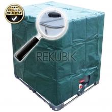 IBC Kubicover Schutzh�lle in Gr�n PE-Gewebe Algenschutz f�r 1000l Container
