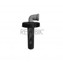 IBC Deckel Filter NW150 mit HT-Bogen 87° DN 50 (Ø 50mm)