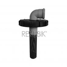 IBC Deckel Filter NW225 mit HT-Bogen 87° DN 75 (Ø 75mm)