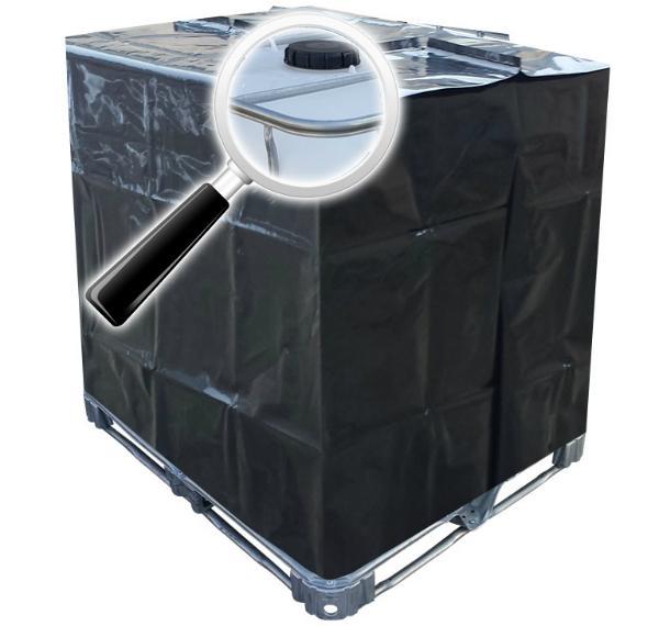 IBC Schutzhuelle UV-Folie in Schwarz 1000 Liter