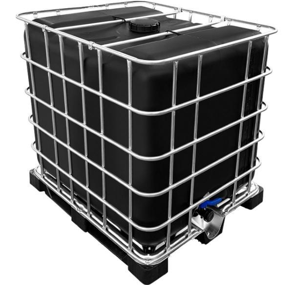 IBC Container in SCHWARZ auf Kunststoffpalette NEU 1000 Liter lebensmittelecht