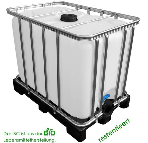 IBC Wassertank auf Kunststoffpalette 600 Liter UNGESPUELT SIRUP
