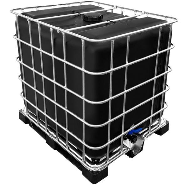 Intermediate Bulk Container PE-Palette neu schwarz 1000 Liter