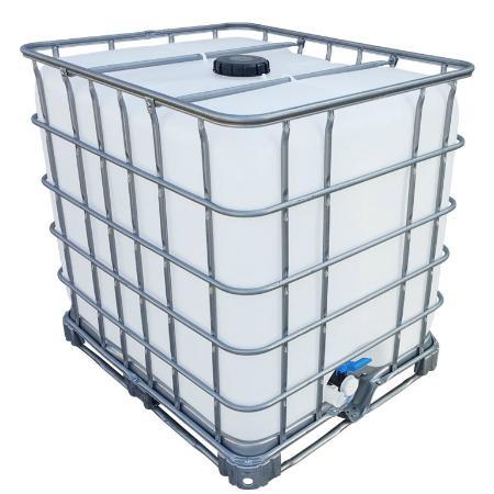 1000l IBC Wassertank auf Stahlpalette GESPÜLT