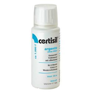 Trinkwasser Stabilisator fluessig Certisil Argento ohne Chlor mit Silberionen