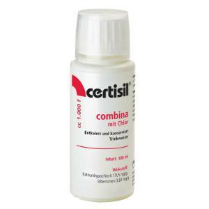 Wasserdesinfektion fluessig Certisil Combina entkeimt und konserviert Trinkwasser