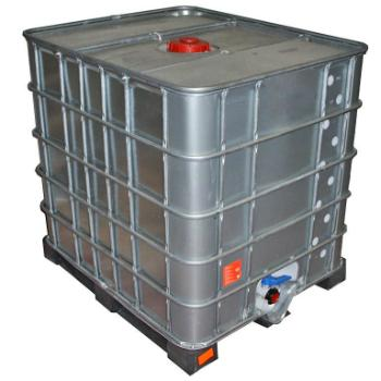 IBC Container gespuelt Stahlmantel Kunststoffpalette 1000 Liter