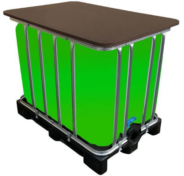 IBC LED Kubik Stehtisch 600 Liter