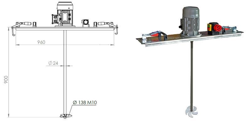 IBC Ruehrwerk Schnellmischer mit E-Antrieb 600 mPas