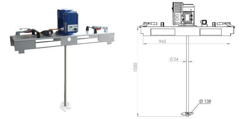 IBC Ruehrwerk Schnellmischer mit E-Antrieb VARIO 600 mPas