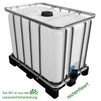 IBC Tank restentleert Kunststoffpalette Lebensmittelherstellung 600 Liter