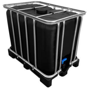 600l IBC Container in SCHWARZ auf PE-Palette NEU