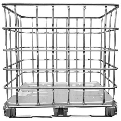IBC Gitterbox auf Stahlpalette