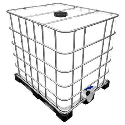 1000l IBC Container in Weiß auf Kunststoffpalette