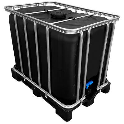 600l IBC Container in SCHWARZ auf Kunststoffpalette