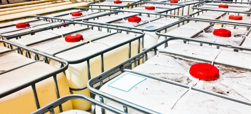 IBCs sind praktisch zu lagern und einfach zu transportieren