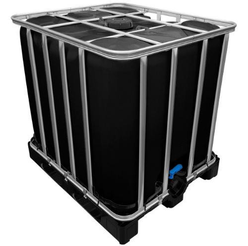 IBC Container Tankblase schwarz Kunststoffpalette neu 1000 Liter