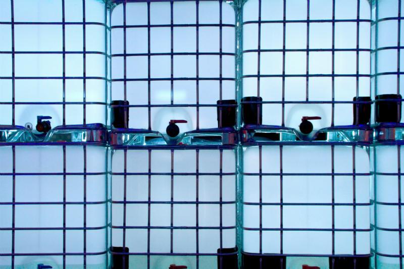 Mit ein wenig Kreativität werden IBC Container zu hübschen Dekorationselementen