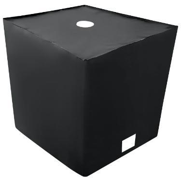 IBC Abdeckhaube UV-Folie mit Lochauschnitt in Schwarz