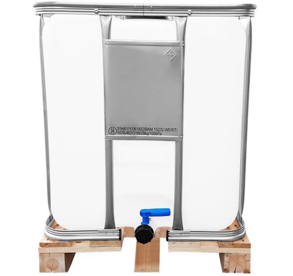 300l IBC Container UN-Zulassung Gefahrgutzulassung auf Holzpalette NEU