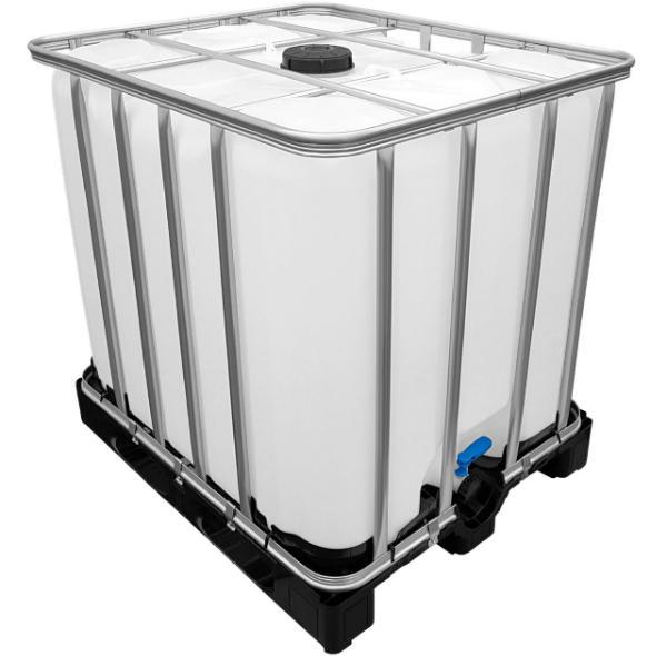 1000l IBC Container UNGESPÜLT (SIRUP) auf PE-Palette