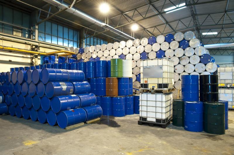 Lagerung von Industriematerial