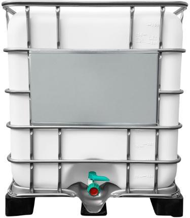 1000l IBC Container GESPÜLT (Lebensmittelherstellung) auf GFK-Palette
