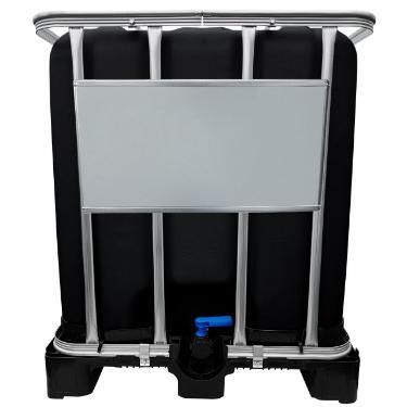 1000l IBC Container SCHWARZ auf Kunststoffpalette