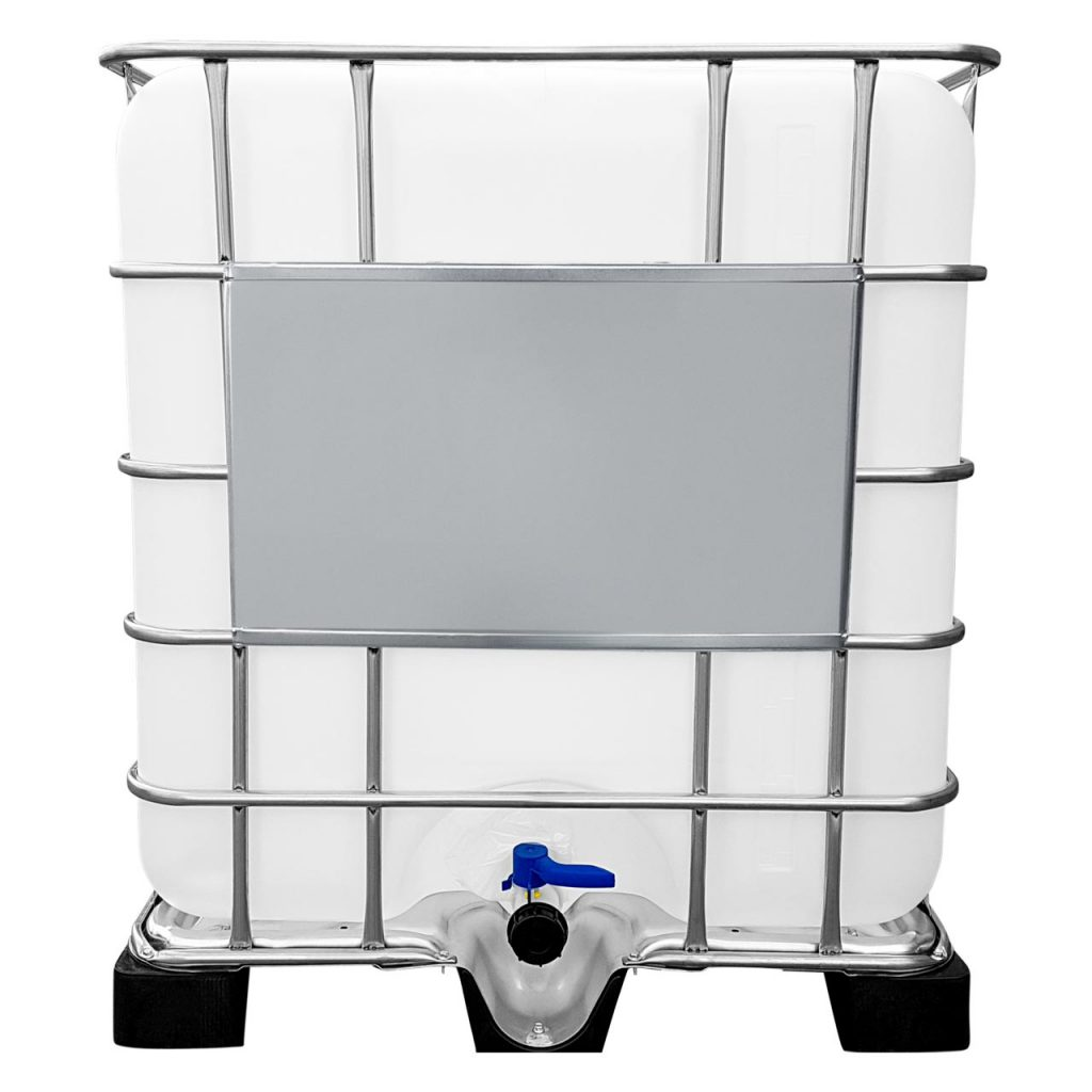 1000l IBC Container auf Kunststoffpalette
