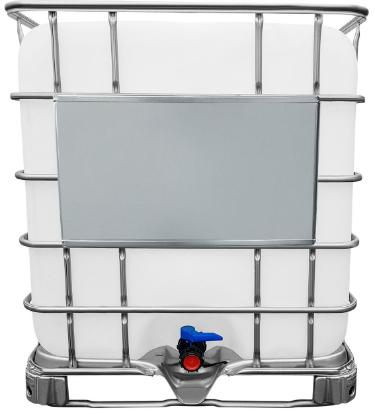 1000l IBC Wassertank GESPÜLT auf Stahlpalette