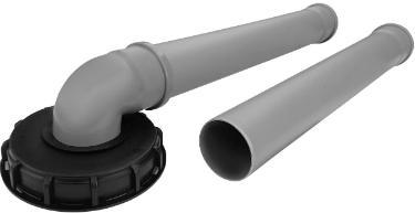 IBC Deckel Einlauf für 200m² Regendieb Pro Garantia inkl. Verbindungsset