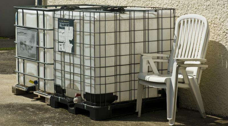 IBCs zur Aufbewahrung des Wasservorrats