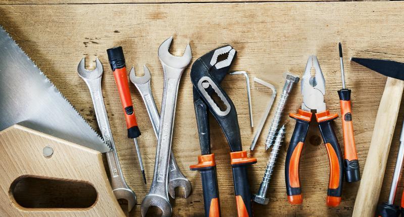 Es wird nicht viel Werkzeug benötigt