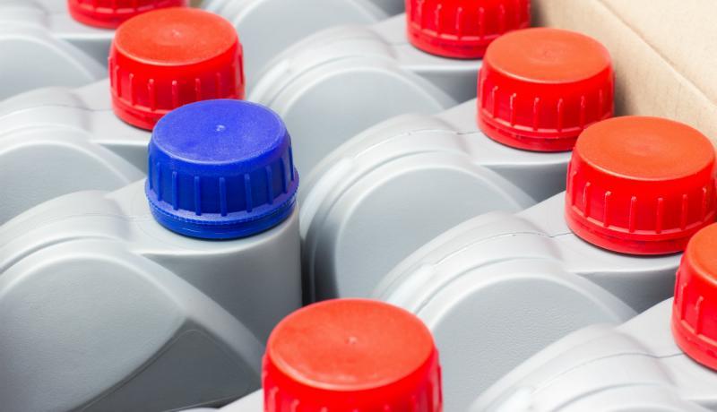 Reiningungsmittel in großen Mengen können gut im IBC Contrainer gelagert werden