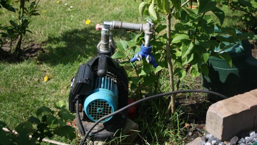Pumpe im Einsatz