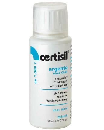 100ml Trinkwasser Stabilisator Argento flüssig Certisil