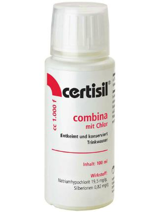 100ml Wasserdesinfektion Combina flüssig Certisil