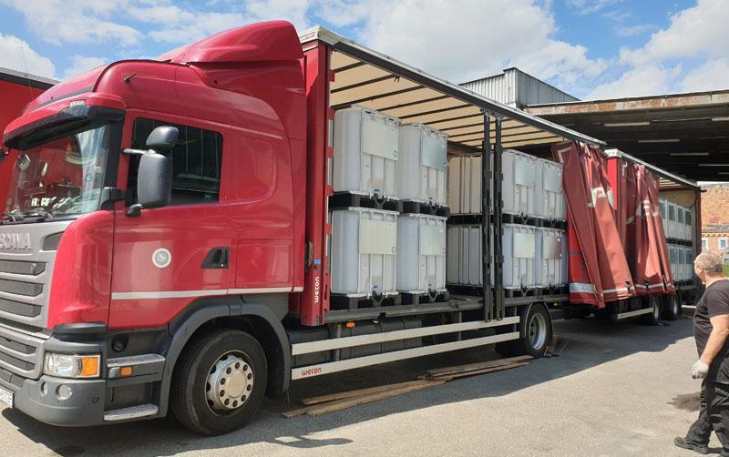 IBC-Container LKW
