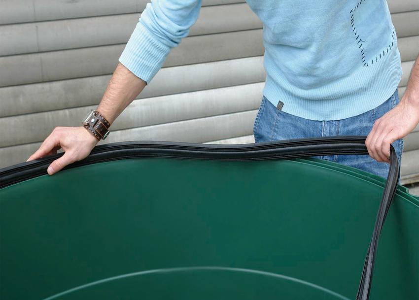 1300l TOP-Tank Regenspeicher dunkelgrün