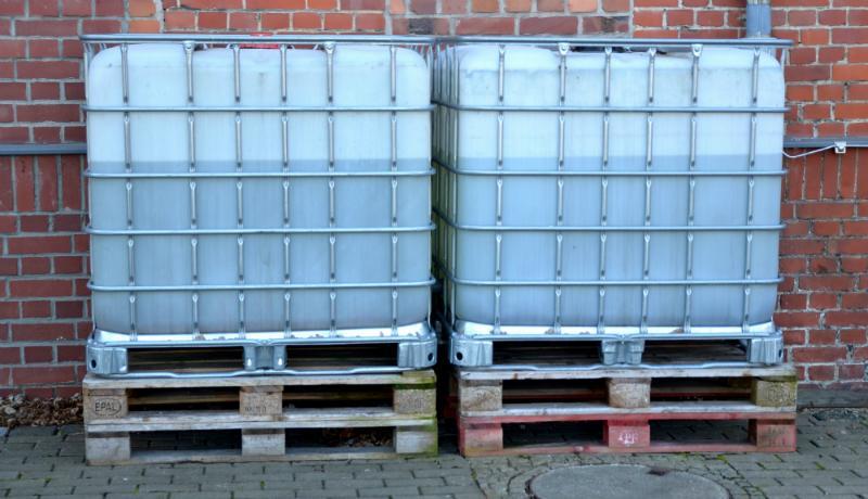 Nicht nur zur Lagerung von Flüssigkeiten gut: Der IBC