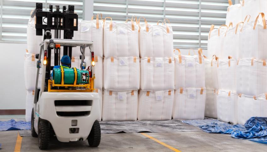 Verpackte Lebensmittel, vorbereitet für den Transport