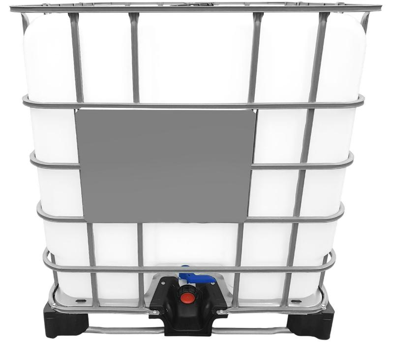 1000l IBC Container (Neue Tankblase) auf Stahl/PE-Palette REBOTTLED