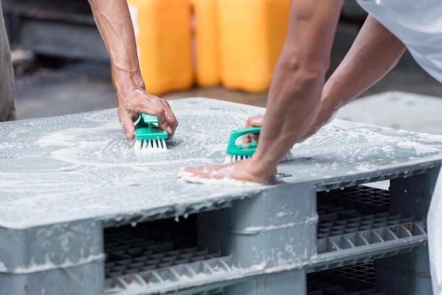 Hygienepaletten aus Kunststoff lassen sich leichter reinigen