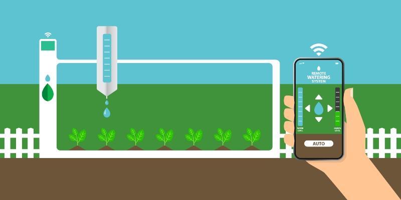 Pflanzenbewaesserungssystem mit automatischer Bewaesserungs-App