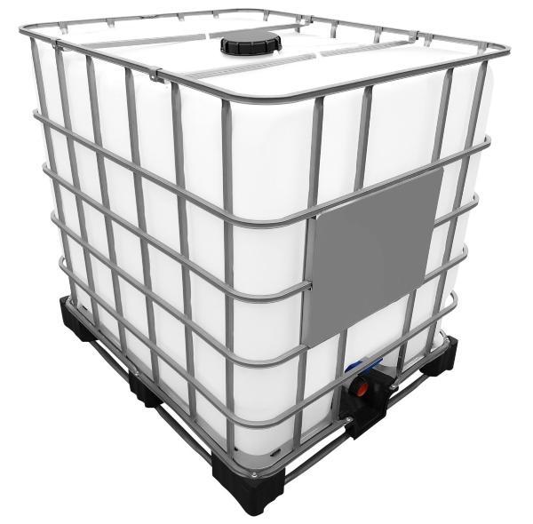 1000l IBC Container auf Stahl PE-Palette REBOTTLED ibc-nutzwassertank