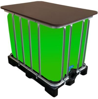 600 Liter IBC Container, LED Kubik Stehtisch