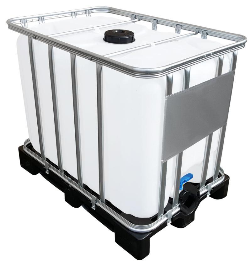 600l IBC Container auf PE-Palette - Toilettenwagen anschließen leicht gemacht