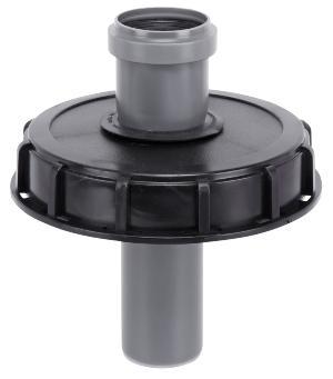 IBC Deckel Einlauf mit HT-Rohr