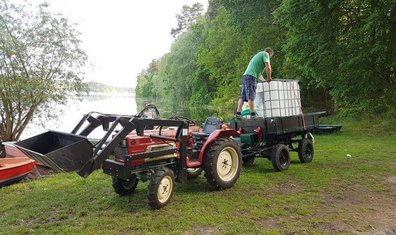 1000l IBC Wassertank mit Tränkebecken auf Stahl/PE-Palette NEU